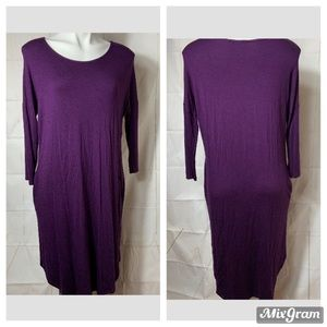 3/$25 Reborn J Women's Purple Tunic Dress